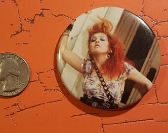 Cyndi Lauper 2.25 inch botton