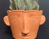 Awake Pot Head // small herb planter