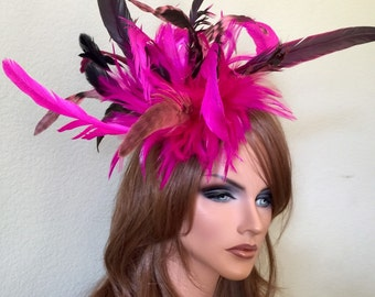 pink feather fascinator
