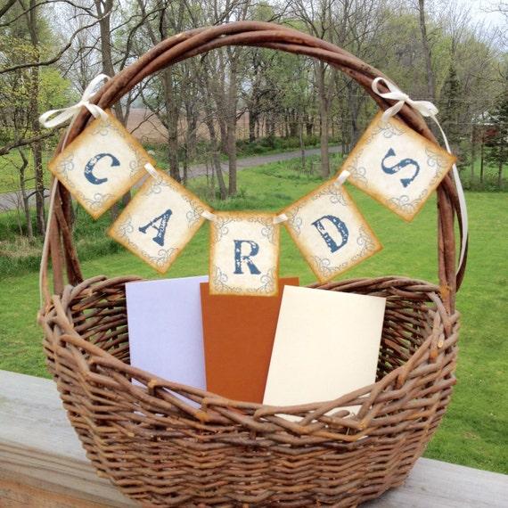 Wedding Cards Banner Garland Rustic Vintage