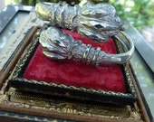 Antique Victorian Lion Paw Etruscan Claw Talon Bracelet Bangle, Talisman for the Passionate, offered by RusticGypsyCreations