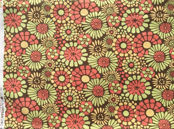 Urban Chiks Blossom Mosaic brown moda fabrics FQ or more