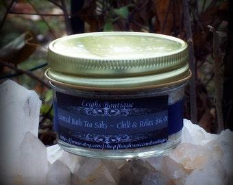 Chill & Relax Essential Herbal Tea Bath Salt Soak Small Jar