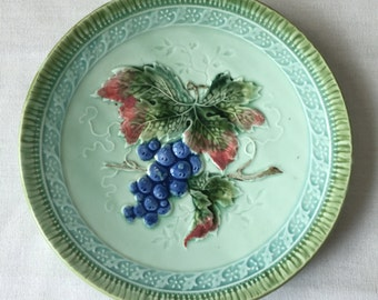 Six Majolica Plates from Black Forest Art Pottery, Erphila Germany