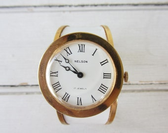 Vintage 1950s Nelson 17 Jewel Windup Watch