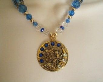 Fairy Necklace, medieval jewelry renaissance jewelry fairy jewelry fantasy necklace victorian edwardian art nouveau celtic elven necklace