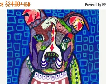55% Off- Pit Bull art Art Print Poster by Heather Galler