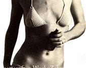 Vintage Crochet Crocheting Groove BIKINI Pattern PDF 729 from WonkyZebra