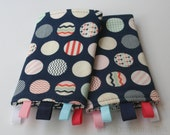 Reversible Baby Carrier Suck/Drool Pads - Trendsetter/Houndstooth (Fits Tula, Lillebaby, Ergo, Mei Tais, and other SSCs) - Ready to Ship