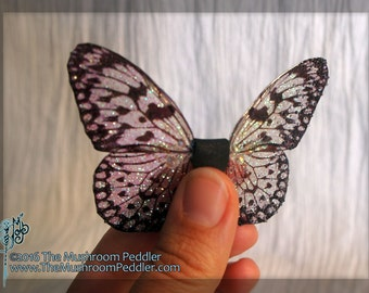 Fairy Doll Wings - Handmade - Butterfly - Clear/white Tiny