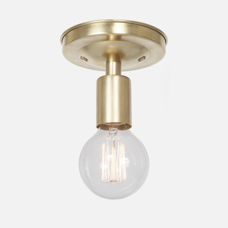 Brass ceiling light flush mount ceiling light fixture for Brass kitchen light fixtures