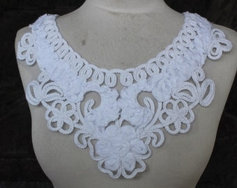 Cute white color  embroidered  flower   applique