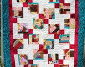 Crazy Crumb Squares Throw Sized Quilt
