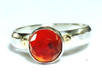 Handmade Engagement Ring ,Red Quartz, gift for her, 925 Silver ring ,Similar diamond ring, valentines day gift, gift ideas
