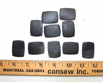 Leather Die Cut Rounded Rectangles in Black (10 PCS.) 520-INSERT