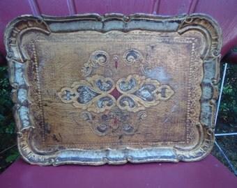 Vintage Florentine Serving Tray
