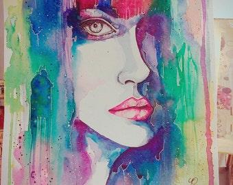 COLORFUL LIFE original watercolor painting 28cm x 22cm artwork