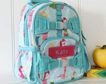 Mini Baby Backpack Pottery Barn (Mini Size) -- Aqua Mermaid