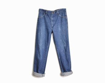 Vintage 90s Boyfriend Work Jeans / Boyfriend Denim - 32 Short