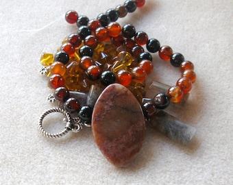 DIY Jewelry Kit, Brown Moonstone, Dream Agate, Semi Precious, Gemstone Beads, Jewelry Making Kit, Craft Supply, Bead Supply, Moonstone Bead