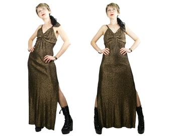 Vintage 1970s Mary Martin Florida Lurex Diva Dress