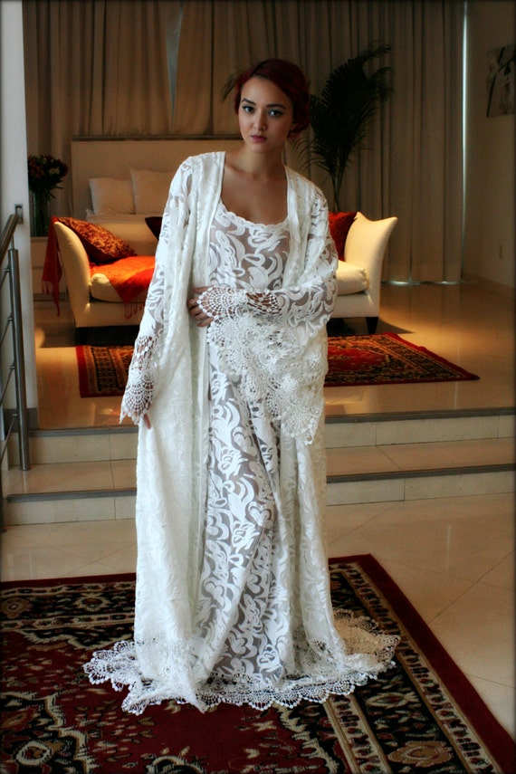 lace bridal robe wedding robe lined bridal lingerie wedding