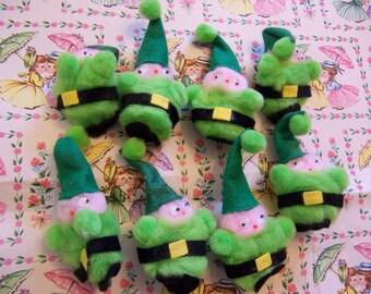 little green gnomes pom poms