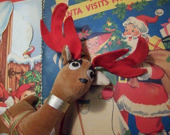 tan velvet stuffed deer