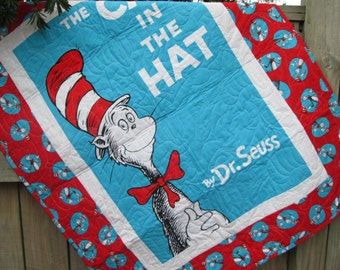 Dr Seuss Baby Quilt Etsy