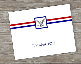 Dedicated Scout folded thank you cards - set of 15 with white envelopes