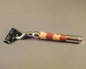 Gillette Mach3 - 30 Caliber Magnum  Razor - Laminated Wood