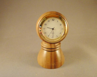 Desk Clock - Walnut Wood