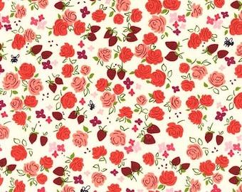 Michael Miller Strawberry Moon by Sandi Henderson Roseberry fabric - 1 yard