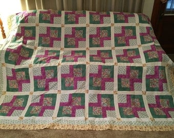 Patience Corner Quilt Top 86 x 103, Backing and Binding. Free Shipping for Mothers Day!