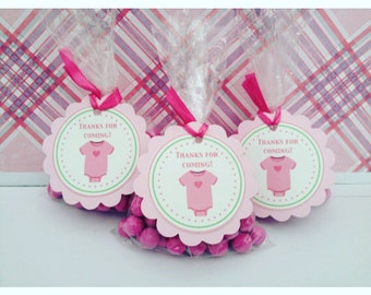 NEW - Baby Shower Thank You Tags, Set of 12