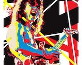 Wall Art Home Decor Rocker Eddie Van Halen Limited Edtion Pop Art Print.