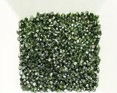 Mirror Fern Green 2mm Czech Fire Polished Beads x 100