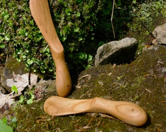 Wooden Spreader Cheese Knife  Handmade from Cherry