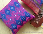 Pink Pillow Fuchsia and Purple - Ethnic Gypsy Cushion Cover Boho