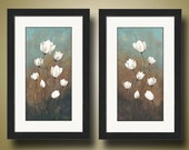 PRINT or GICLEE Reproduction -- White Lotus Flower Print -- Choice of Abundance I or Abundance II