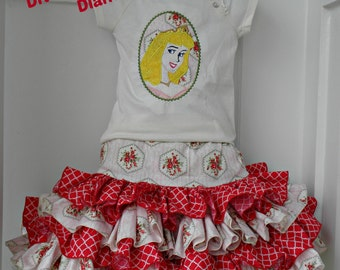 Aurora Sleeping Beauty Skirt Set size 4/5 Ready to Ship