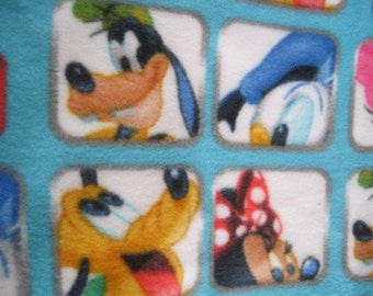 Mickey, Minnie,  Goofy, Donald, Daisy, Pluto Photos Fleece Blanket - Ready to Ship Now