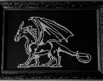 Dragon cross stitch pattern