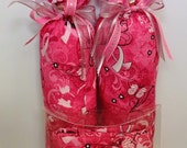SALE - Pink Butterfly Boot Trees & Boot Bag Set