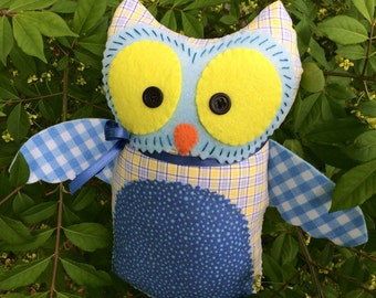 Ryan Little Boy Yellow and Blue Owl Doll