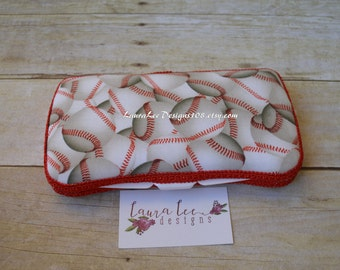 Baseball Travel Baby Wipe Case, Personalized Case, Base Balls Diaper Wipes Case, Baby Shower Gift, Diaper Bag Case, Wipe Holder, Wipe Clutch
