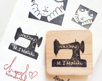 Customised sewing machine stamp