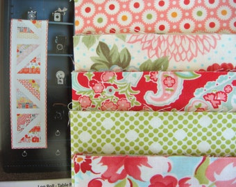 Log Roll Table Runner Kit With Bonnie and Camille fabric by Moda Fabric