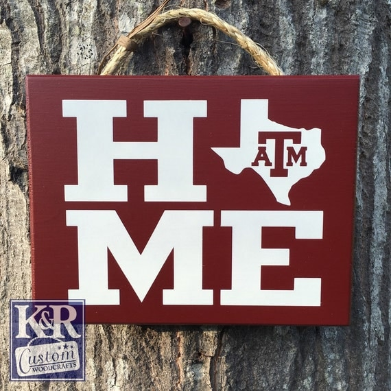 Texas A&M Sign Home State Aggies Decor Plaque Wall Hanging