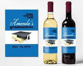 Custom Wine Bottle Labels Personalized College Graduation Party Favors Waterproof Printed Wine Labels Personalized Wine Stickers WB-1018